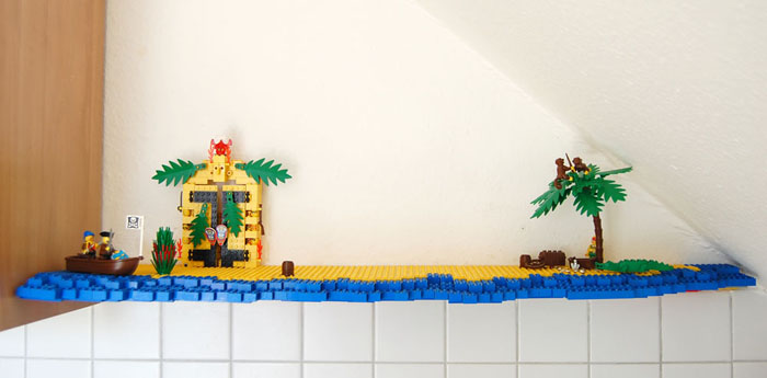 The amazing lego spice rack adventure island, empty